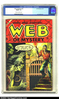 Golden Age (1938-1955):Horror, Web of Mystery #25 (Ace, 1954) CGC FN/VF 7.0 Cream to off-whitepages. Fantastic pre-Code horror. Overstreet 2002 FN 6.0 val...