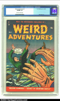 Weird Adventures #1 (P.L. Publishing Co., 1951) CGC VF/NM 9.0 Off-white to white pages. Matt Baker art in this esoteric...