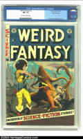 Golden Age (1938-1955):Science Fiction, Weird Fantasy #21 Gaines File pedigree 3/12 (EC, 1953) CGC NM- 9.2Off-white to white pages. Frazetta and Williamson cover. ...