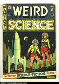 Golden Age (1938-1955):Science Fiction, Weird Science #7 (EC, 1951) Condition: VG/FN. Beautiful AlFeldstein cover. Overstreet 2002 GD 2.0 value = $45; FN 6.0value...