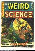 Golden Age (1938-1955):Horror, Weird Science Group (EC, 1952) Average Condition: FR/GD. Issue #9(FR) and #11 (GD). Wood's first EC cover on #9 and Feldste...