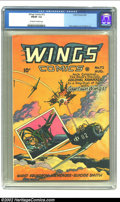 Golden Age (1938-1955):War, Wings Comics #72 (Fiction House, 1946) CGC FN/VF 7.0 Off-white towhite pages. Lee Elias cover. Lubbers, Hopper, and Celardo...