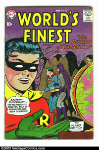 World's Finest Comics #100 (DC, 1959) Condition: VG-. Luthor conquers Kandor. Issues from the 1950s are very difficult t...