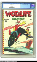 Golden Age (1938-1955):Funny Animal, Wotalife Comics #5 (Fox, 1946) CGC VF 8.0 Off-white pages. CosmoCat and L'il Pan. Only copy of any issue of the title to be...