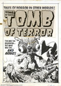 "Original Comic Art:Covers, Lee Elias - Original Cover Art for Tomb of Terror #14 (Harvey,1953). Taking the notion of a ""bug-eyed monster"" to the extre..."