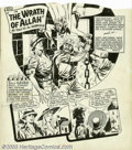 "Original Comic Art:Splash Pages, Al Gabriele - Original Art for Speed Comics - Splash Page for""Black Cat: The Wrath of Allah"" (Harvey, 1940s). Terrific ""Bla..."