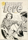 Original Comic Art:Covers, Unknown Artist - Original Cover Art for First Love Illustrated #53(Harvey, 1955). Ah, a calm sea, a strong oar, and a prett...