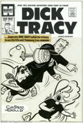 Original Comic Art:Covers, Unknown Artist - Original Cover Art for Dick Tracy #111 (Harvey,1950s). Tracy tackles the Racketeer on this dynamic '50s Ha...
