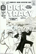 "Original Comic Art:Covers, Unknown Artist - Original Cover Art for Dick Tracy #143 (Harvey,1950s). Tracy puts the hurt on ""Measles,"" yet another no-go..."