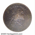 1793 Chain 1C AMERICA--Damaged, Corroded--ANACS. VF Details, Net Fine 15. S-2, High R.4. This issue's status as the prem...