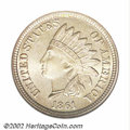 Indian Cents: , 1861 1C MS67 NGC. While this issue's original mintage of ...
