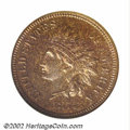 Proof Indian Cents: , 1877 1C PR64 Red and Brown NGC. Razor sharp in strike, as ...