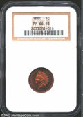 Proof Indian Cents: , 1880 1C PR66 Red and Brown NGC. Deeply reflective ...