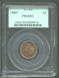 Proof Indian Cents: , 1880 1C PR65 Red PCGS. Light golden-red color with ...