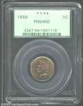 Proof Indian Cents: , 1886 1C Type One PR64 Red PCGS. Orange-gold and reddish-...