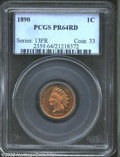 Proof Indian Cents: , 1890 1C PR64 Red PCGS. With attractive color, and very ...