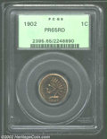 Proof Indian Cents: , 1902 1C PR65 Red PCGS. Both the fields and devices are ...