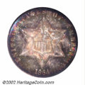 Three Cent Silver: , 1864 3CS MS68 NGC. A breathtakingly beautiful example of ...