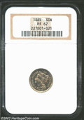 1885 3CN PR62 NGC. Reflective and bright, with a few spots and some hairlines, but an overall attractive look