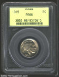 Proof Buffalo Nickels: , 1915 5C PR66 PCGS. Expectantly sharp for the issue, this ...
