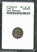 Early Half Dimes: , 1795 H10C --Face Repaired--ANACS. XF Details, Net VF20. V-...