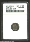 Early Half Dimes: , 1795 H10C --Damaged, Bent--ANACS. XF Details, Net VF20. V-...