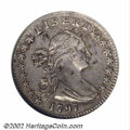Early Half Dimes: , 1797 H10C VF30 ANACS. V-2, LM-1, R.3. An important type ...