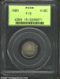 Early Half Dimes: , 1803 H10C Fine 15 PCGS. V-1, LM-2, R.4. Large 8 in date. ...