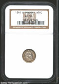Seated Half Dimes: , 1840-O H10C Drapery AU55 NGC. Lots of luster remains on ...
