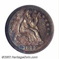 1844-O H10C MS61 NGC. An exceedingly rare Seated half dime, with only three pieces so graded by both NGC and PCGS and th...