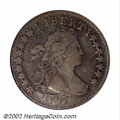 1797 10C 16 Stars VF20 ANACS. JR-1, R.4. This is one of only two varieties of Dimes known for this date, both of which a...