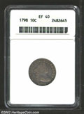 Early Dimes: , 1798 10C Large 8 XF40 ANACS. JR-4, R.3. The only die ...