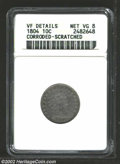 Early Dimes: , 1804 10C 13 Stars on Reverse--Corroded, Scratched--ANACS. ...