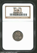 Bust Dimes: , 1834 10C Small 4 AU58 NGC. JR-5, R.1. Rich dove-gray and ...