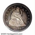 Proof Seated Quarters: , 1866 25C PR66 NGC. The present sale notwithstanding, the ...