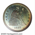 Proof Seated Quarters, 1867 25C PR67 NGC. Ex: P. Kaufman. We have come to expect ...
