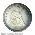 Proof Seated Quarters, 1873 25C No Arrows PR68 NGC. Ex: P. Kaufman. As they were ...