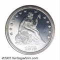 Proof Seated Quarters: , 1876 25C PR66 Cameo NGC. Untoned (or essentially so) with ...