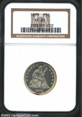 Proof Seated Quarters: , 1878 25C PR63 NGC. Lightly toned in gold with a single ...