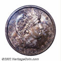Barber Quarters: , 1900-S 25C MS65 NGC. Type One Obverse / Type Two Reverse. ...