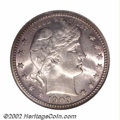 Barber Quarters: , 1903-O 25C MS65 NGC. Unusually well struck for this often ...