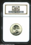 Washington Quarters: , 1934-D 25C MS65 NGC. A lustrous Gem with light gold color ...