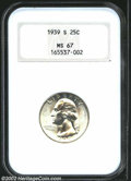 Washington Quarters: , 1939-S 25C MS67 NGC. A magnificently preserved Superb Gem ...
