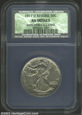 Walking Liberty Half Dollars: , 1917-S 50C Reverse AU Details, Improperly Cleaned NCS. ...