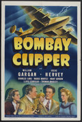 "Movie Posters:Mystery, Bombay Clipper (Universal, 1942). One Sheet (27"" X 41""). Mystery.Directed by John Rawlins. Starring William Gargan, Irene H..."