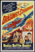 "Movie Posters:War, Dragonfly Squadron (Allied Artists, 1954). One Sheet (27"" X 41"").War Drama. Starring John Hodiak, Barbara Britton, Bruce Be..."