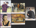 "Movie Posters:James Bond, Goldfinger (United Artists, 1964). French Lobby Cards (5) (8.25"" X 10.7""). James Bond. Starring Sean Connery, Honor Blackman... (Total: 5 Item)"
