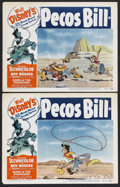 "Movie Posters:Animated, Pecos Bill (RKO, R-1954). Lobby Cards (2) (11"" X 14""). Animated. Starring Roy Rogers, Trigger, The Sons of the Pioneers, and... (Total: 2 Items)"