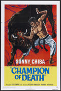 "Movie Posters:Action, Champion of Death (United Artists, 1976). One Sheet (27"" X 41""). Kung Fu Action. Starring Sonny Chiba. Directed by Kazuhiko ..."