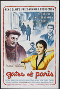 "Movie Posters:Drama, Gates of Paris (Lopert Pictures, 1958). One Sheet (27"" X 41"").Drama. Starring Pierre Brasseur, Georges Brassens, Henri Vida..."